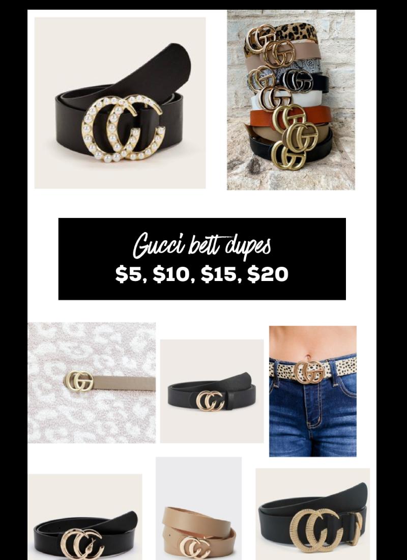Affordable Gucci Belt Dupes Under $20